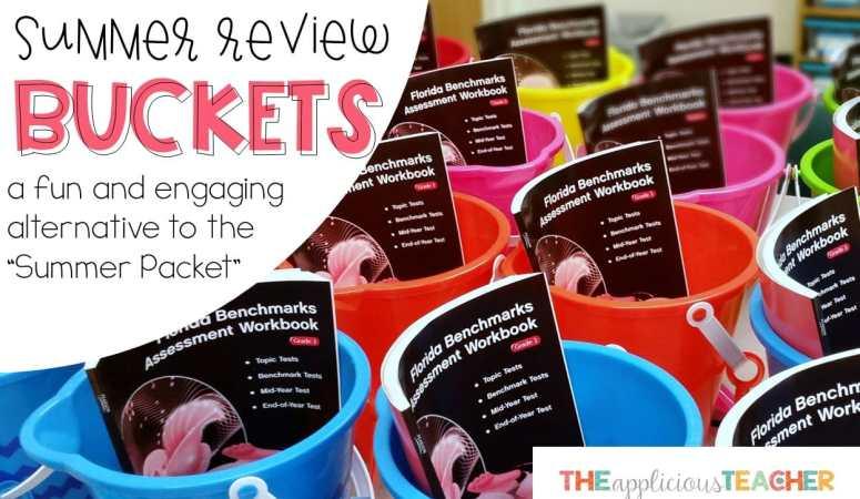 Summer Buckets: Idea for Avoiding the Summer Slip