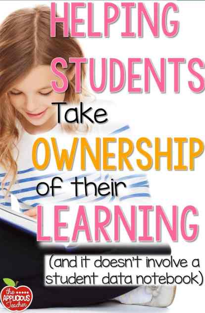 We want our kids to take ownership of their learning but does it have to involve a Data Notebook. Here's 5 ways you can help students become congnative of their learning and not one involves destroying self worth with stagnate data.