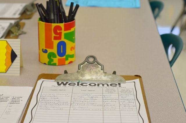 meet the teacher sign in sheets