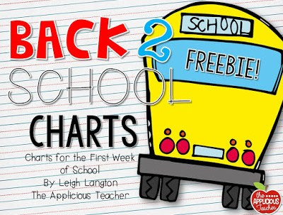 Back to School Class Charts