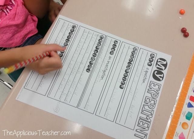Scientific method write up sheet