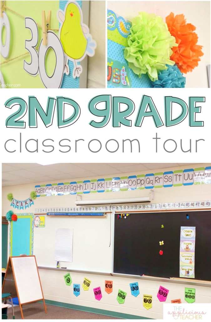 Tour of my 2nd grade classroom! In need of some classroom inspiration? Come check out my second grade space! TheAppliciousTeacher.com