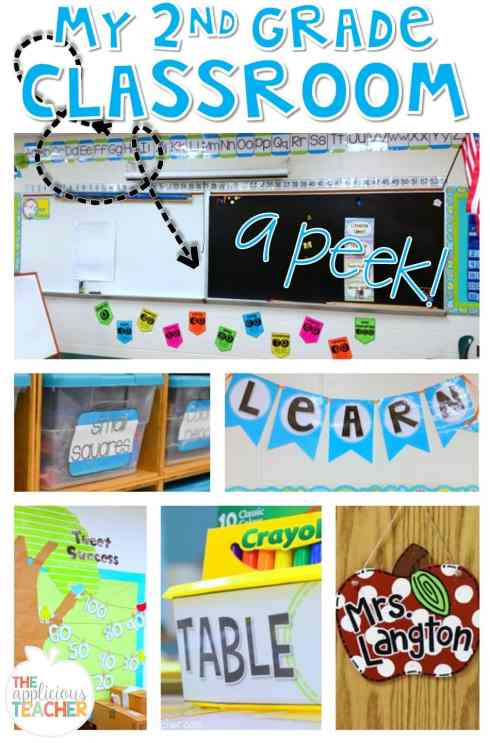 Take a peek at my second grade classroom TheAppliciousTeacher.com #classroomdecor #classroomsetup