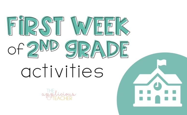 First week of 2nd grade activites-TheAppliciousTeacher.com