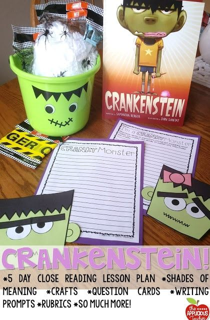 Crankenstein activities! Love this book for getting your students excited about close reading and for around Halloween!