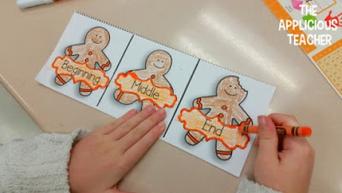 "Recounting story of ""The Gingerbread Boy"" tri-fold"