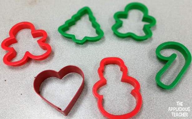 Christmas cookie cutters are perfect to make shaped cinnamon ornaments