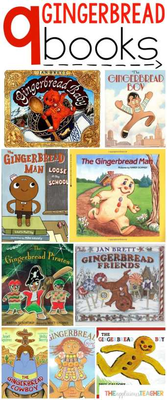 9 of the MUST HAVE books for a gingerbread man unit!