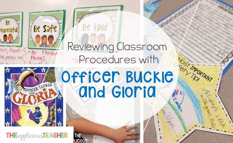 Reviewing classroom rules and procedures using Officer Buckle and Gloria