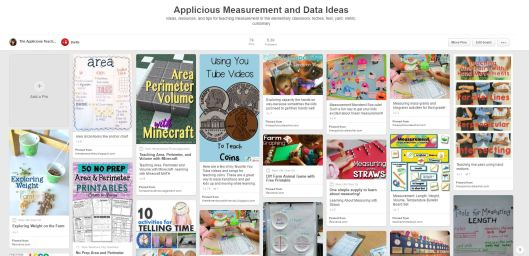 measurement and data activity ideas (pinterest)
