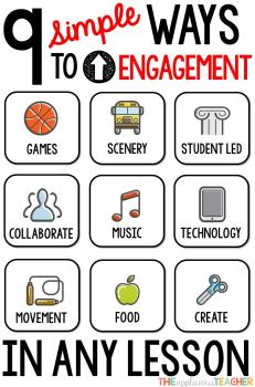 9 EASY ways to up student engagement in ANY lesson!