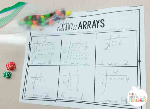 rainbow arrays- build arrays using skittles