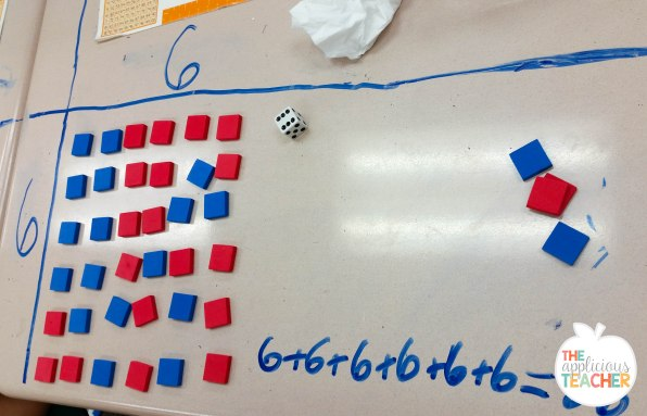 building arrays and relating them to repeated addition