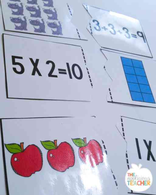 array and equation match up game
