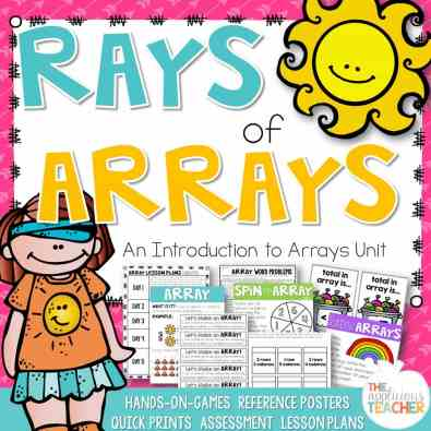 Rays of Arrays unit- A perfect introduction to arrays for second or third grade