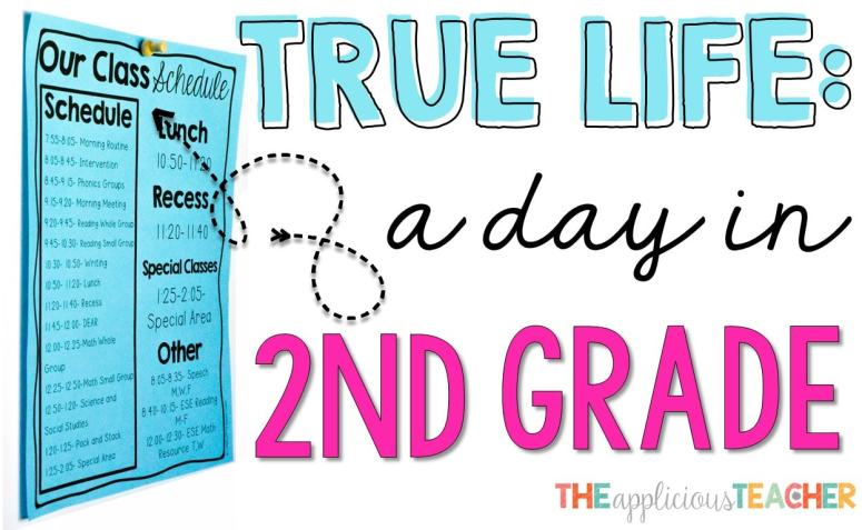 Great post outlining a typical day in second grade schedule