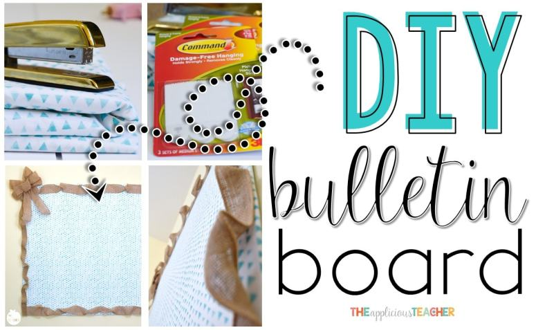 Do It Yoursefl Bulletin Board-Finally an easy way to put a bulletin board where there isn't one!