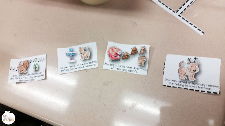 Event picture cards for Olive the other Reindeer