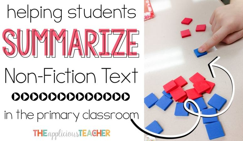 "Summarizing text is a difficult skill. This post explains the process for helping students tell the ""gist"" of a non-fiction text."