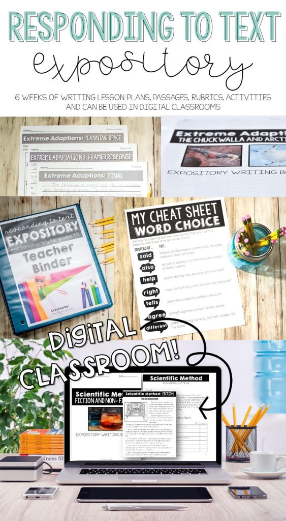 Responding to text digital classroom resources. OMW this is perfect for computer based testing prep! Text based writing curriculum for 3rd 4th 5th grade