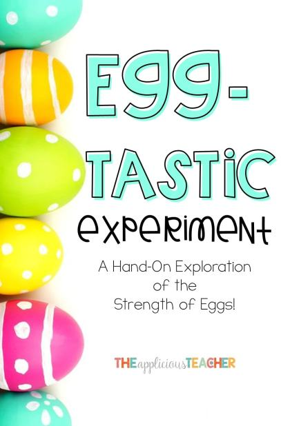 Egg experiment- Love this idea for around Easter! Split students into groups to discovery how strong an egg really is!
