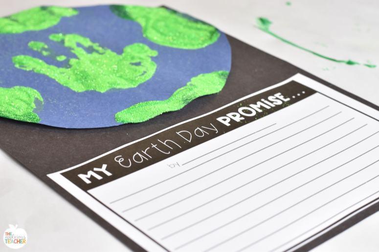 Earth day handprint writing craft freebie