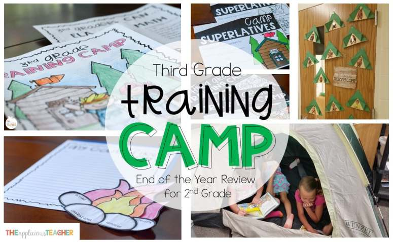End of the year activities for second grade- Want to get your students ready for third grade? Then send them to third grade training camp.