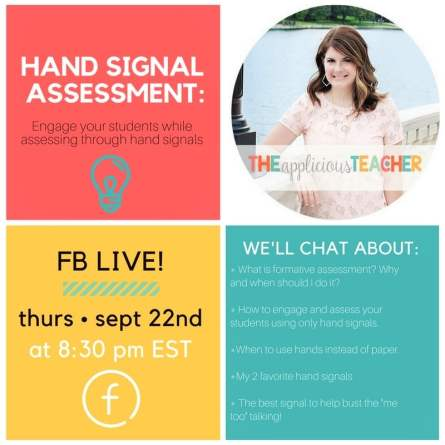 Using Hand Signals for formative assessment in your classroom