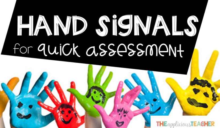 Using Hand Signals for Quick Formative Assessment