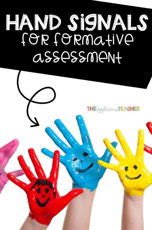 hand signals for quick formative assessment. Stop loosing time with talking and grading! These three signals will change the way you assess your students FOREVER!