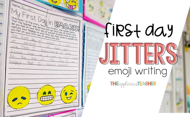 First Day Jitters Emoji writing- great first day back writing activity!