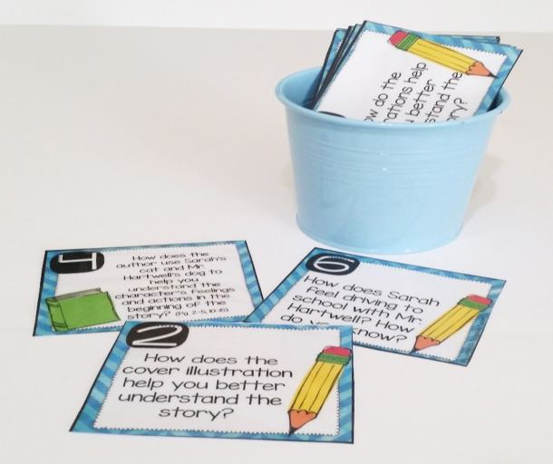 First Day Jitters question cards