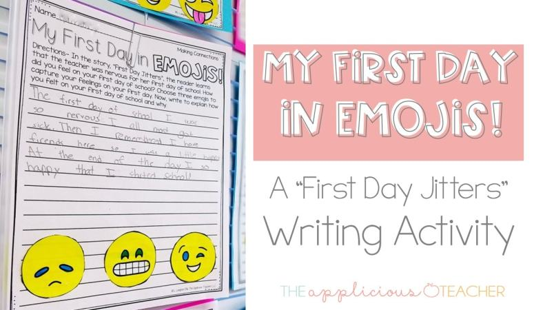 First Day Jitters Emoji Writing