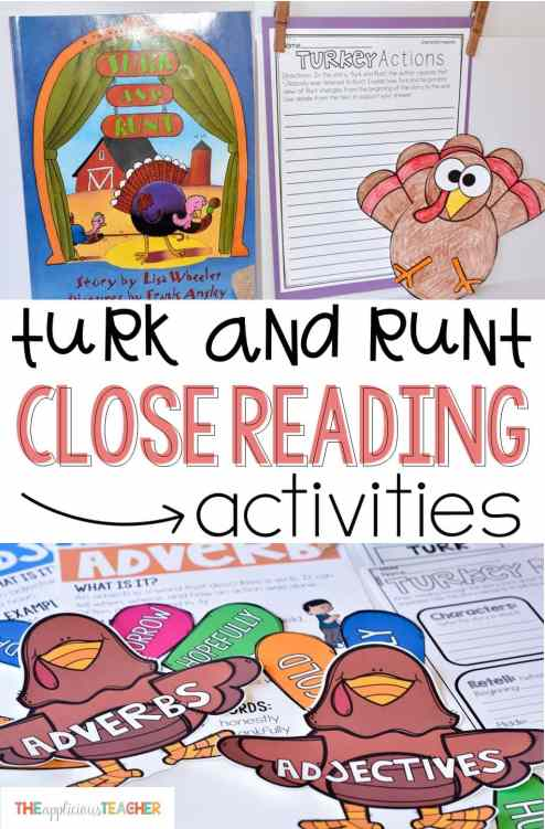 Close reading activities and ideas for the book Turk and Runt. Love this for Thanksgiving!
