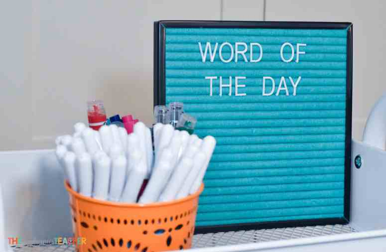 Use your felt letter board to display a word of the day or word of the week