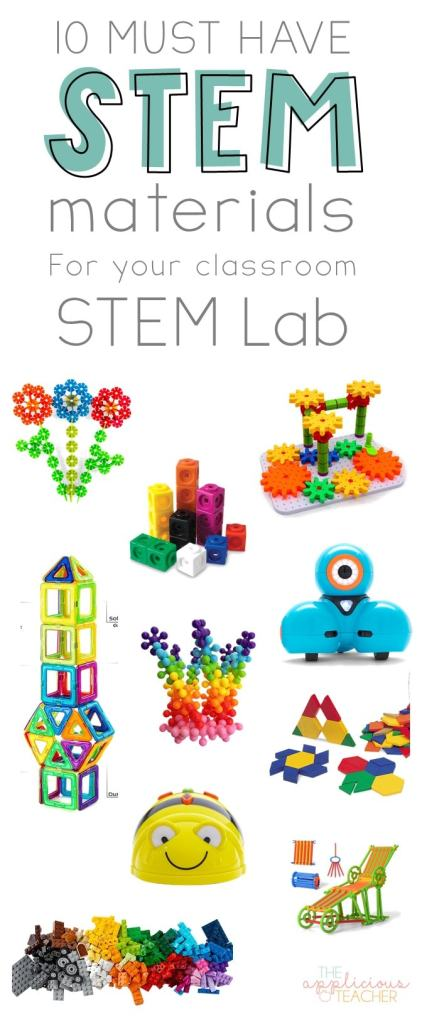 Use these top 10 must-haves to build your classroom STEM lab! TheAppliciousTeacher.com