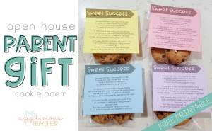 Open House Gift: Sweet Success Cookie Poem