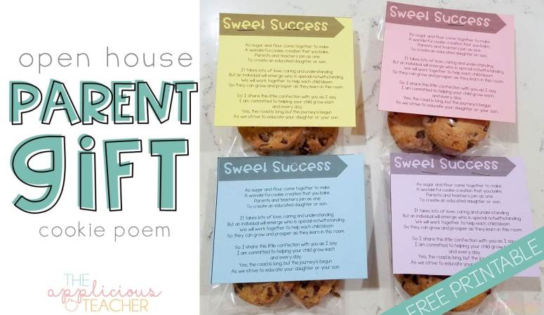 Open House Cookie poem freebie- perfect gift to give at Open house. Just attach a cookie and done!