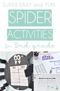 Easy and Fun Spider Activities that are perfect for your spider unit in 2nd grade-TheAppliciousTeacher.com #spiderunit #2ndgrade