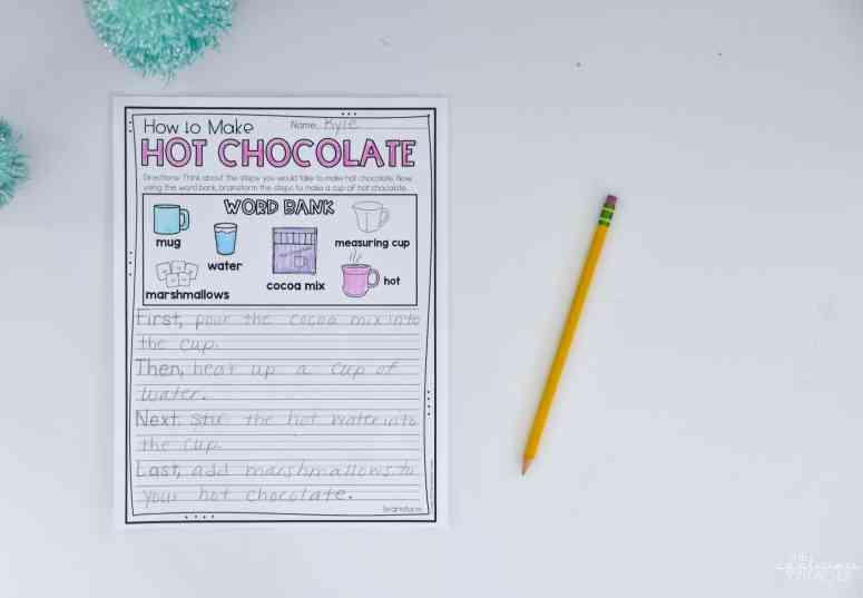 How to writing brainstorming sheet. How to make hot chocolate