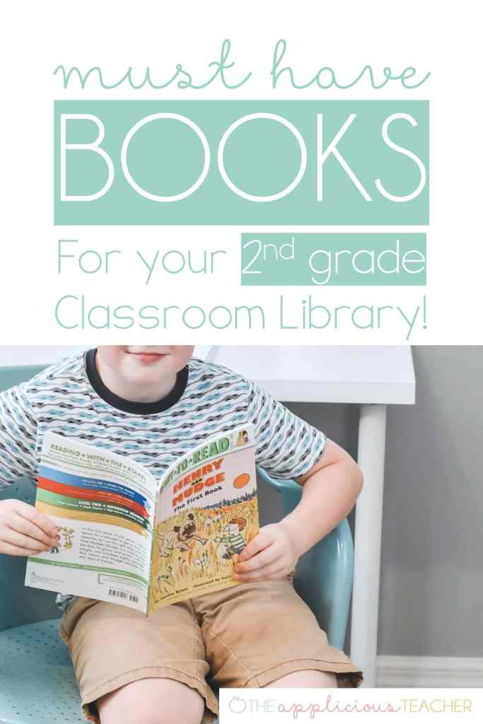 Perfect list for beginning chapter books for 2nd grade- TheAppliciousTeacher.com #2ndgrade #classroom