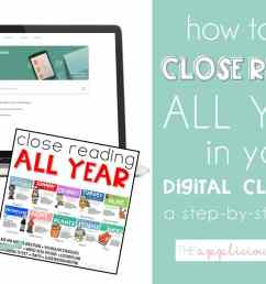 Using Close Reading All Year at Home: A Step-by-Step Guide for Making Close  Reading Units Work for Distance Learning - The Applicious Teacher [ 768 x 1248 Pixel ]