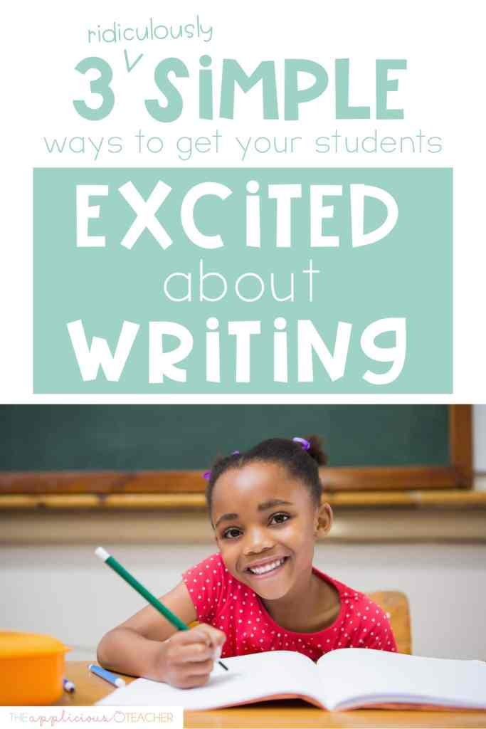 students excited about writing