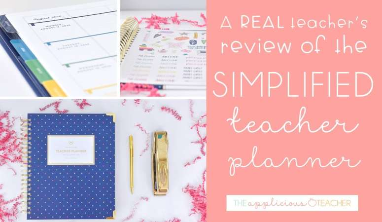 A Peek Inside the Simplified Teacher Planner