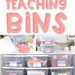 teaching bins