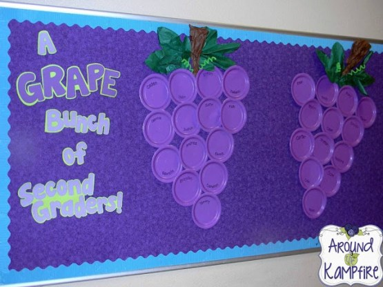 A Grape Bunch of 2nd Graders Bulletin Board