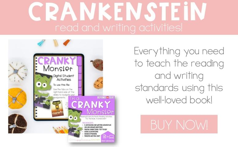 crankenstein reading activities digital and print