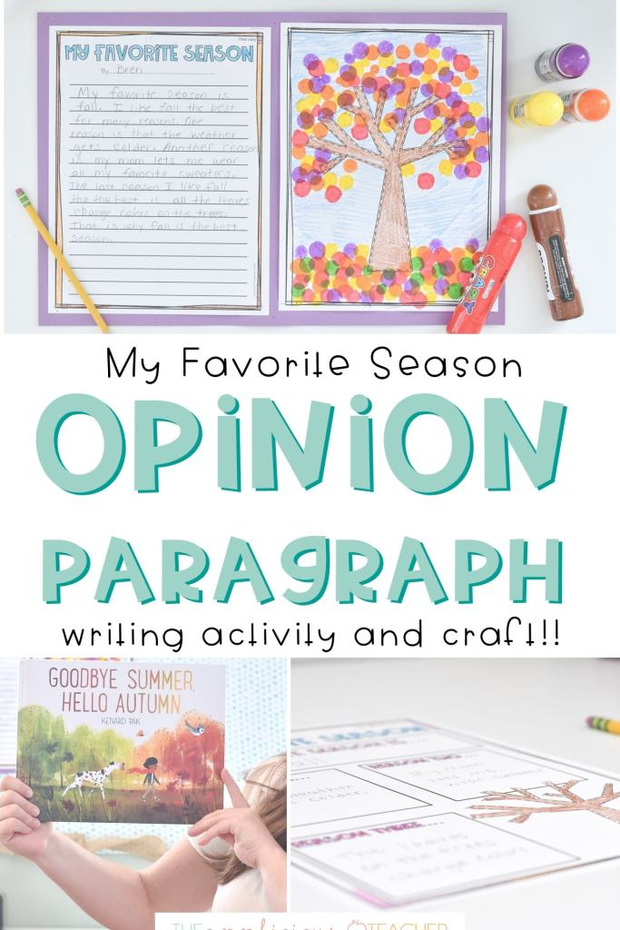 2nd Grade Opinion Writing paragraph activity- My Favorite Season
