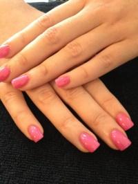 Shellac Pink Sparkle Acrylic Nails ...