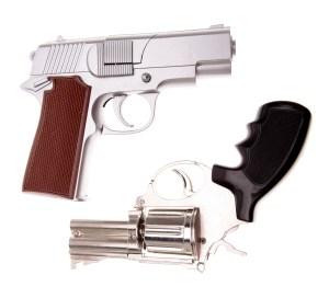 Semi-Automatic (top) Revolver (bottom)